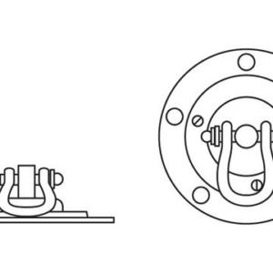 Bolt down pivot for wheel chocks - MGF-0158