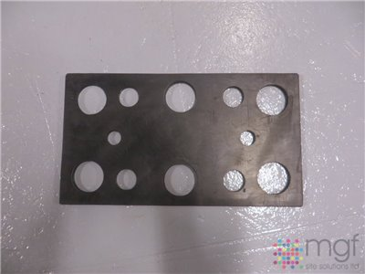10mm Rubber Packing Shim for Type 1810 Bumper - 450mm x 250mm x 10mm