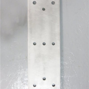 Back Plate with M24 Threaded Holes for Type 3010 Bumpers - 750mm x 250mm x 15mm
