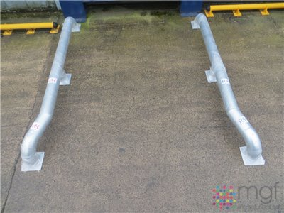 Loading Bay Wheel Guides - Galvanised - 3000mm x 600mm x 365mm