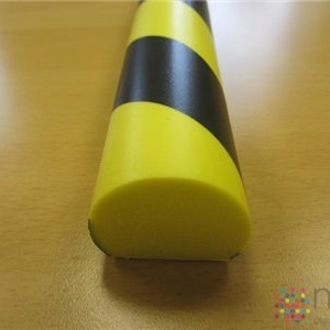 Rounded with Flat Base Foam Edge Impact Protector - 1000 x 40dia x 32mm base