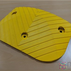 Modular Speed Bump - Yellow End Piece - 250mm x 400mm x 50mm