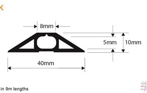 Snaptop Cable Protector - Type K - 8mm X 5mm Channel - 9M