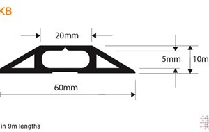 Snaptop Cable Protector - Type KB - 20mm X 5mm Channel - 9M
