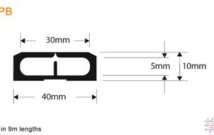 Snaptop Cable Protector - Type PB - 30mm X 5mm Channel - 9M